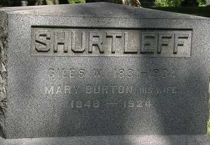 BURTON SHURTLEFF, MARY - Lorain County, Ohio | MARY BURTON SHURTLEFF - Ohio Gravestone Photos