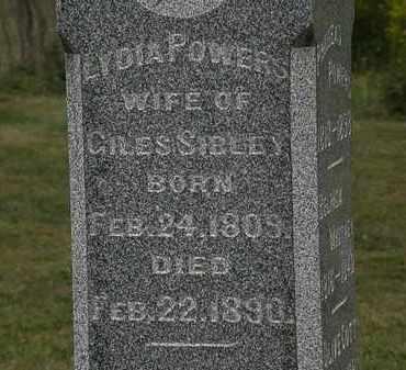 POWERS SIBLEY, LYDIA - Lorain County, Ohio | LYDIA POWERS SIBLEY - Ohio Gravestone Photos