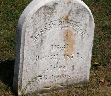SIMONSON, HANNAH - Lorain County, Ohio | HANNAH SIMONSON - Ohio Gravestone Photos