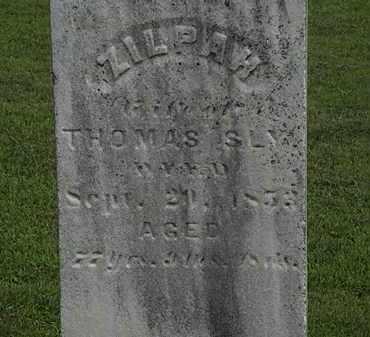 SLY, ZILPAW - Lorain County, Ohio | ZILPAW SLY - Ohio Gravestone Photos