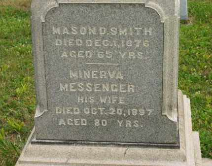 MESSENGER SMITH, MINERVA - Lorain County, Ohio | MINERVA MESSENGER SMITH - Ohio Gravestone Photos
