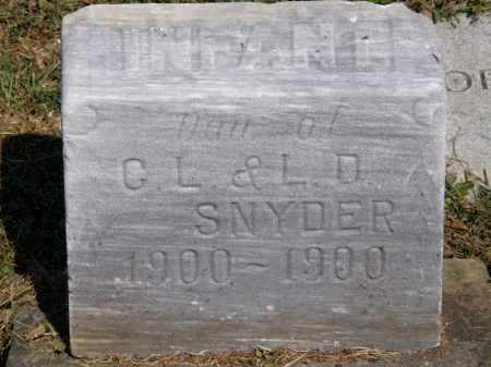SNYDER, INFANT - Lorain County, Ohio   INFANT SNYDER - Ohio Gravestone Photos