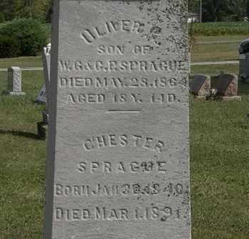 SPRAGUE, OLIVER - Lorain County, Ohio | OLIVER SPRAGUE - Ohio Gravestone Photos
