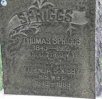 KIBBY SPRIGGS, LORINDA S. - Lorain County, Ohio | LORINDA S. KIBBY SPRIGGS - Ohio Gravestone Photos