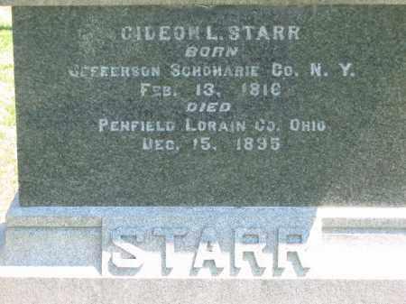 STARR, GIDEON - Lorain County, Ohio   GIDEON STARR - Ohio Gravestone Photos