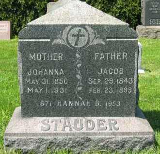 STAUDER, JOHANNA - Lorain County, Ohio | JOHANNA STAUDER - Ohio Gravestone Photos