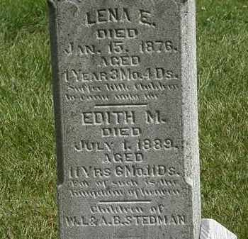 STEDMAN, LENA E. - Lorain County, Ohio | LENA E. STEDMAN - Ohio Gravestone Photos
