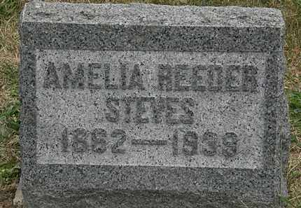 REEDER STEVES, AMELIA - Lorain County, Ohio | AMELIA REEDER STEVES - Ohio Gravestone Photos