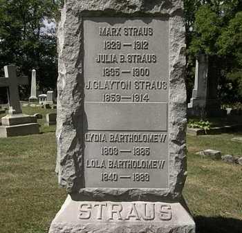 STRAUS, J. CLAYTON - Lorain County, Ohio | J. CLAYTON STRAUS - Ohio Gravestone Photos