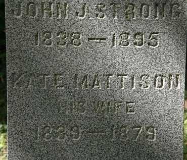 MATTISON STRONG, KATE - Lorain County, Ohio | KATE MATTISON STRONG - Ohio Gravestone Photos