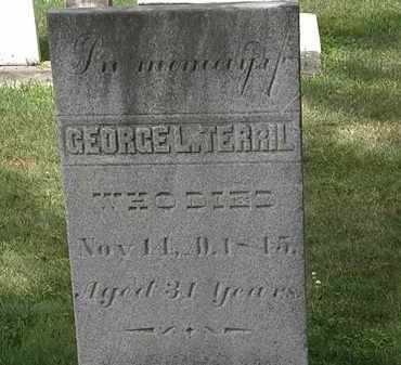 TERRIL, GEORGE L - Lorain County, Ohio   GEORGE L TERRIL - Ohio Gravestone Photos