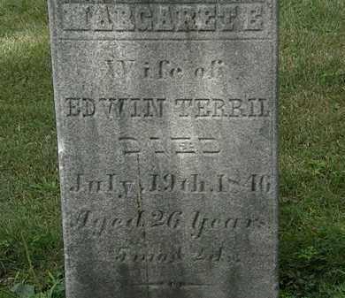 TERRIL, MARGARET E. - Lorain County, Ohio | MARGARET E. TERRIL - Ohio Gravestone Photos