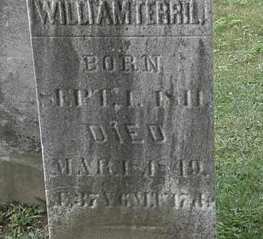 TERRIL, WILLIAM - Lorain County, Ohio | WILLIAM TERRIL - Ohio Gravestone Photos