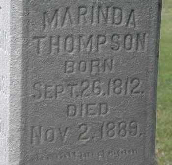 THOMPSON, MARINDA - Lorain County, Ohio | MARINDA THOMPSON - Ohio Gravestone Photos