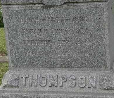 THOMPSON, SUSAN H. - Lorain County, Ohio | SUSAN H. THOMPSON - Ohio Gravestone Photos