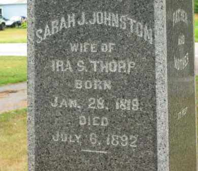 JOHNSTON THORP, SARAH J - Lorain County, Ohio | SARAH J JOHNSTON THORP - Ohio Gravestone Photos