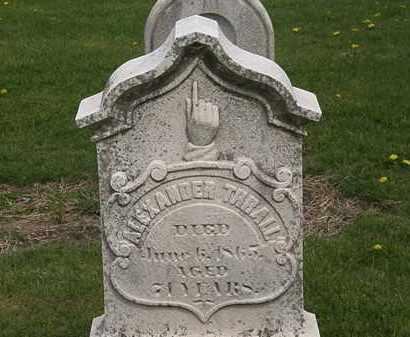 THRALL, ALEXANDER - Lorain County, Ohio   ALEXANDER THRALL - Ohio Gravestone Photos