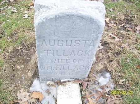 TILLACK, AUGUSTA - Lorain County, Ohio   AUGUSTA TILLACK - Ohio Gravestone Photos