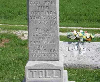 ILENFELT TOLL, DORA - Lorain County, Ohio | DORA ILENFELT TOLL - Ohio Gravestone Photos