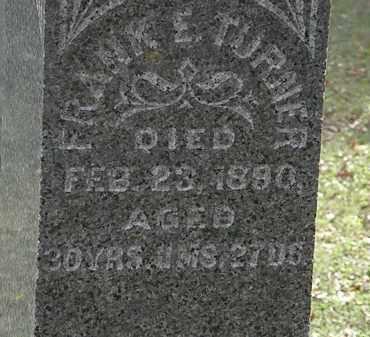 TURNER, FRANK E. - Lorain County, Ohio   FRANK E. TURNER - Ohio Gravestone Photos