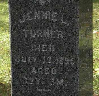 TURNER, JENNIE L. - Lorain County, Ohio   JENNIE L. TURNER - Ohio Gravestone Photos