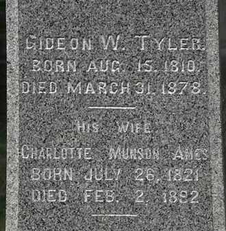 AMES TYLER, CHARLOTTE MUNSON - Lorain County, Ohio | CHARLOTTE MUNSON AMES TYLER - Ohio Gravestone Photos