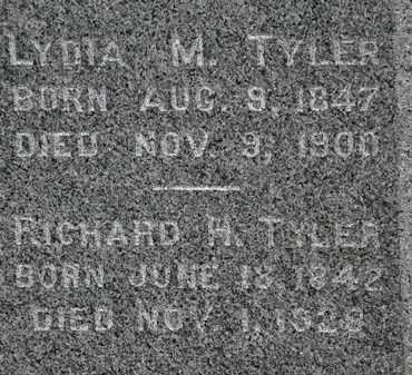 TYLER, LYDIA M. - Lorain County, Ohio   LYDIA M. TYLER - Ohio Gravestone Photos