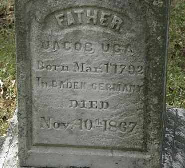 UGA, JACOB - Lorain County, Ohio | JACOB UGA - Ohio Gravestone Photos