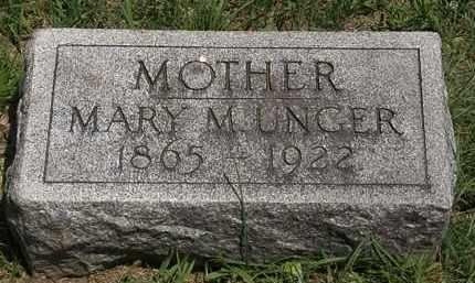 UNGER, MARY M. - Lorain County, Ohio   MARY M. UNGER - Ohio Gravestone Photos