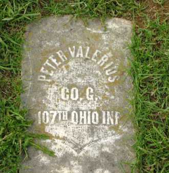 VALERIUS, PETER - Lorain County, Ohio | PETER VALERIUS - Ohio Gravestone Photos