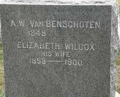 VAN BENSCHOTEN, A.W. - Lorain County, Ohio   A.W. VAN BENSCHOTEN - Ohio Gravestone Photos