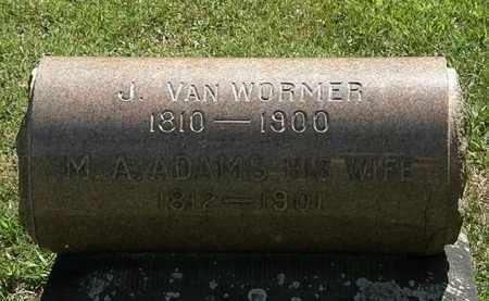 ADAMS VAN WORMER, M.A. - Lorain County, Ohio | M.A. ADAMS VAN WORMER - Ohio Gravestone Photos