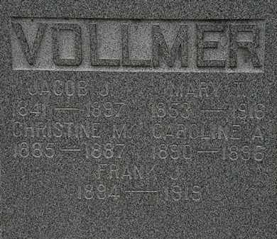 VOLLMER, CHRISTINE M. - Lorain County, Ohio | CHRISTINE M. VOLLMER - Ohio Gravestone Photos