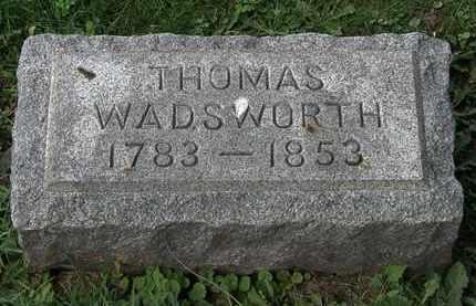 WADSWORTH, THOMAS - Lorain County, Ohio | THOMAS WADSWORTH - Ohio Gravestone Photos