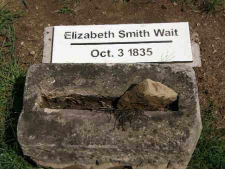 SMITH WAIT, ELIZABETH - Lorain County, Ohio | ELIZABETH SMITH WAIT - Ohio Gravestone Photos