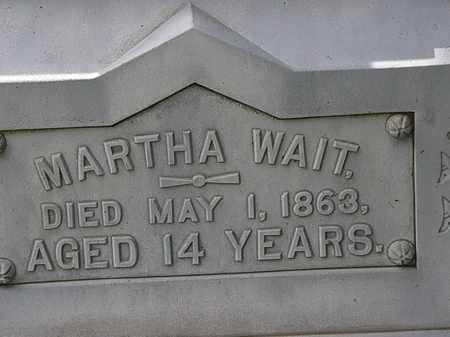 WAIT, MARTHA - Lorain County, Ohio | MARTHA WAIT - Ohio Gravestone Photos