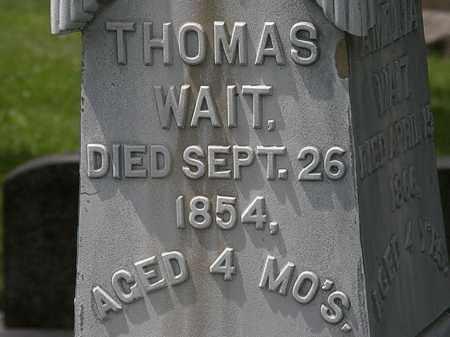 WAIT, THOMAS - Lorain County, Ohio | THOMAS WAIT - Ohio Gravestone Photos