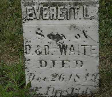 WAITE, EVERETT L. - Lorain County, Ohio | EVERETT L. WAITE - Ohio Gravestone Photos