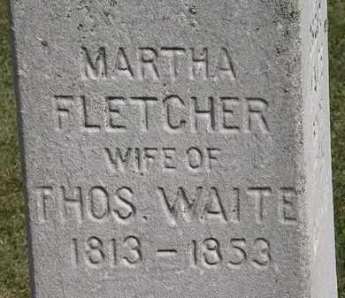 WAITE, MARTHA - Lorain County, Ohio | MARTHA WAITE - Ohio Gravestone Photos