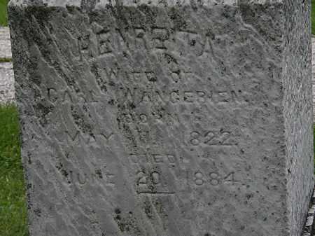 WANGERIEN, HENREITA - Lorain County, Ohio   HENREITA WANGERIEN - Ohio Gravestone Photos