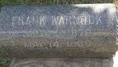 WARNOCK, FRANK - Lorain County, Ohio | FRANK WARNOCK - Ohio Gravestone Photos