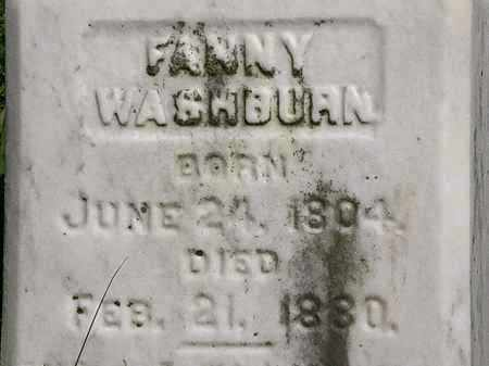 WASHBURN, FANNY - Lorain County, Ohio   FANNY WASHBURN - Ohio Gravestone Photos