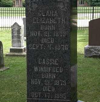 WATSON, CLARA ELIZABETH - Lorain County, Ohio | CLARA ELIZABETH WATSON - Ohio Gravestone Photos