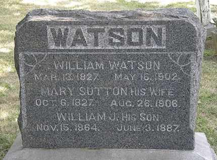 WATSON, WILLIAM - Lorain County, Ohio | WILLIAM WATSON - Ohio Gravestone Photos