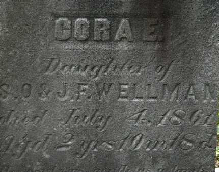 WELLMAN, CORA E. - Lorain County, Ohio | CORA E. WELLMAN - Ohio Gravestone Photos