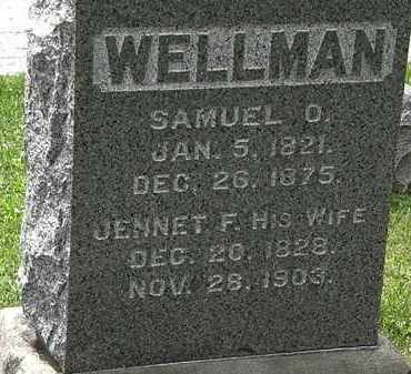 WELLMAN, SAMUEL O. - Lorain County, Ohio   SAMUEL O. WELLMAN - Ohio Gravestone Photos