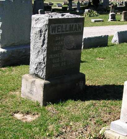 WELLMAN, JENNET FULLER - Lorain County, Ohio | JENNET FULLER WELLMAN - Ohio Gravestone Photos