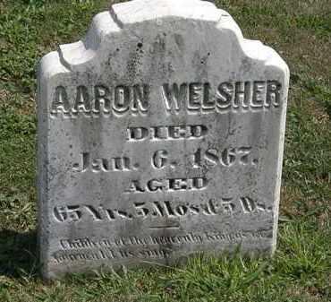 WELSHER, AARON - Lorain County, Ohio   AARON WELSHER - Ohio Gravestone Photos
