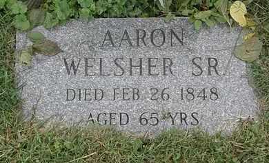 WELSHER, AARON - Lorain County, Ohio | AARON WELSHER - Ohio Gravestone Photos