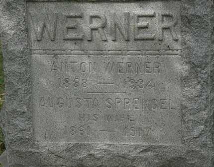 WERNER, ANTON - Lorain County, Ohio   ANTON WERNER - Ohio Gravestone Photos